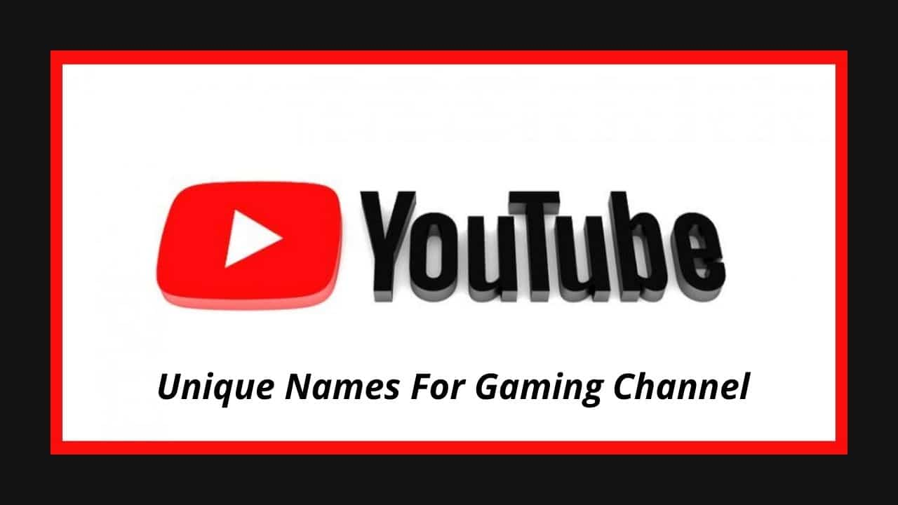 Names For Gaming Channel